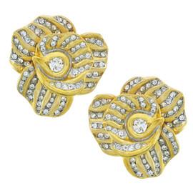 Kenneth Jay Lane Spiral Flower Earrings