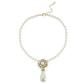 Ciner for Sophie Pearl Flower Necklace