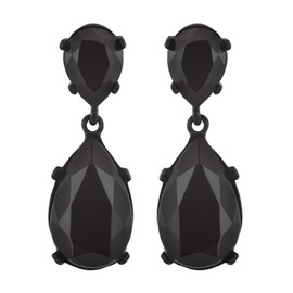 Kenneth Jay Lane Jet Black Earrings
