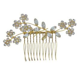 Jennifer Behr Gold Crystal Violet Comb