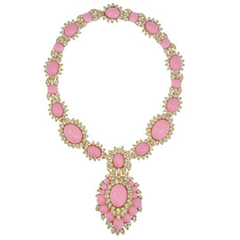 Ciner for Sophie Nadya Baby Pink Statement Necklace