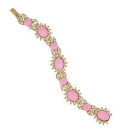 Ciner for Sophie Baby Pink Cabochon Bracelet