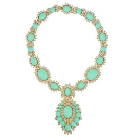 Ciner for Sophie Nadya Sea Green Statement Necklace