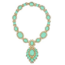 Ciner for Sophie Nadya Sea Green Statement Necklace
