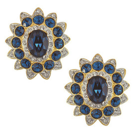 Kenneth Jay Lane Sapphire Earrings
