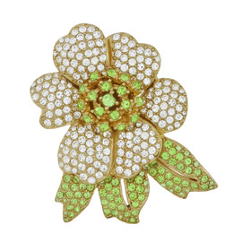 Ciner Mini Crystal Flower Brooch