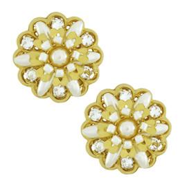 Miriam Haskell Small Flower Burst Earrings