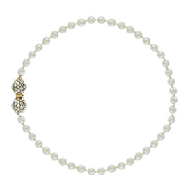 Miriam Haskell Dome Cluster Pearl Necklace