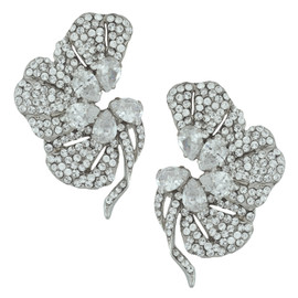 Siman Tu Crystal Floret Earrings