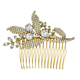 Jennifer Behr Isa Crystal Gold Comb