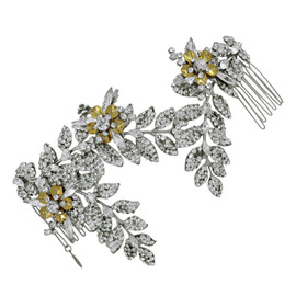 Enchanted Atelier by Liv Hart Gold Flower Sabrina Luxe Comb