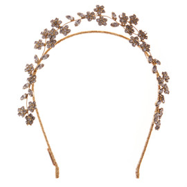Jennifer Behr Violet Gold Crystal Headband