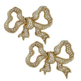 Ciner Large Crystal Bow Earrings