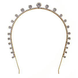 Jennifer Behr Dot Gold Crystal Tiara Headband