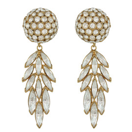 Ciner Crystal Ball Drop Earrings