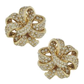 Ciner Gold Black Diamond Earrings