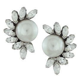 Ciner Florette Pearl Earrings