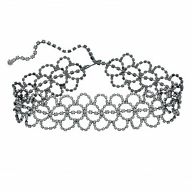 Kenneth Jay Lane Crystal Lace Choker