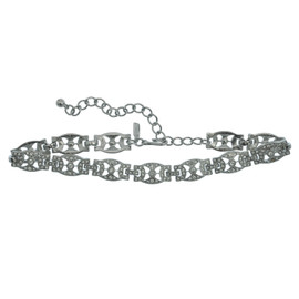 Kenneth Jay Lane Crystal Link Deco Choker