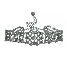 Kenneth Jay Lane Ornate Crystal Choker