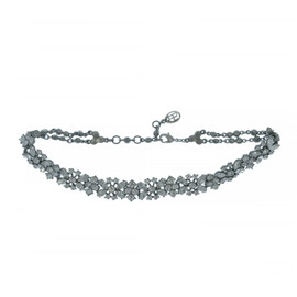Ben-Amun Crystal Cluster Choker Necklace