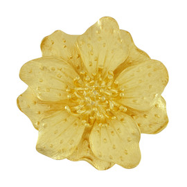 Kenneth Jay Lane Large Gold Satin Dogwood Flower Brooch
