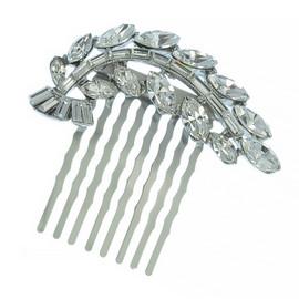 Ben-Amun Crystal Leaf Hair Comb
