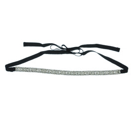 Ciner Black RibbonArt Deco Crystal Choker