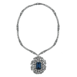 Ciner Sapphire Mogul Necklace
