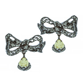 Mei's Jewelry Yellow Butterfly Bow Earrings