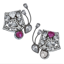Mei's Jewelry Ruby Butterfly Earrings