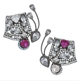 Mei's Jewelry Ruby Butterfly Earrings