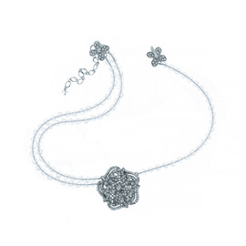 Mei's Jewelry Crystal Flower Choker