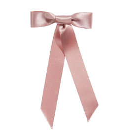 Jennifer Behr Blush Satin Bow Barrette