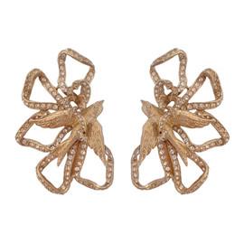 Ciner Lace Bow Earrings