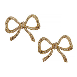 Ciner Petite Lace Bow Earrings