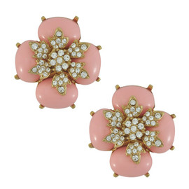 Ciner for Sophie Blush Flower Earrings