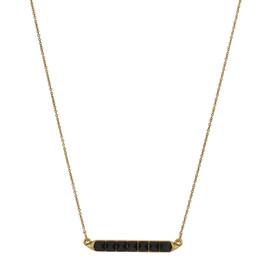 House of Harlow 1960 Black Gem Necklace