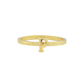 Gorjana Alphabet Stackable F Ring