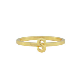 Gorjana Alphabet Stackable S Ring