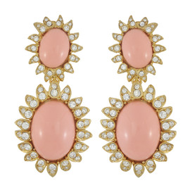 Ciner Blush Cabochon Earrings