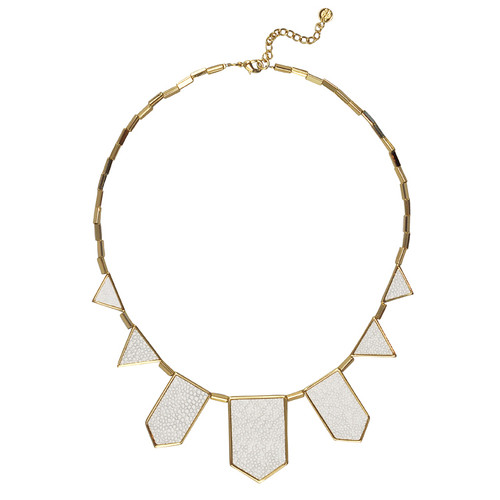 House of Harlow 1960 White Station Necklace
