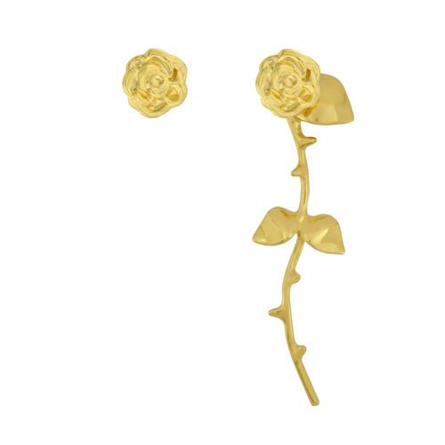Smith/Grey Marina Gold Rose Earrings