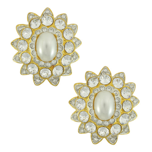 Kenneth Jay Lane Starburst Crystal Earrings