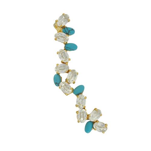Joanna Laura Constantine Turquoise Crystal Ear Cuff