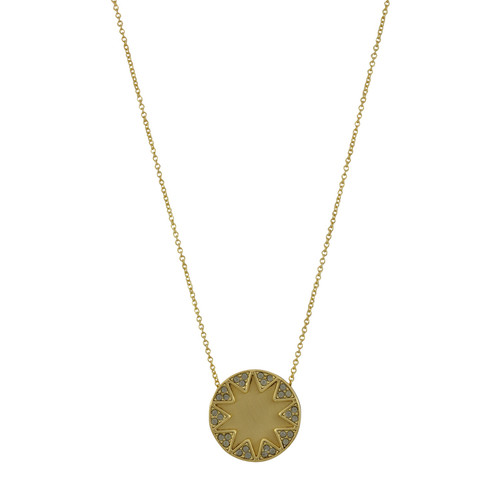 House of Harlow 1960 Earth Metal Sunburst Necklace