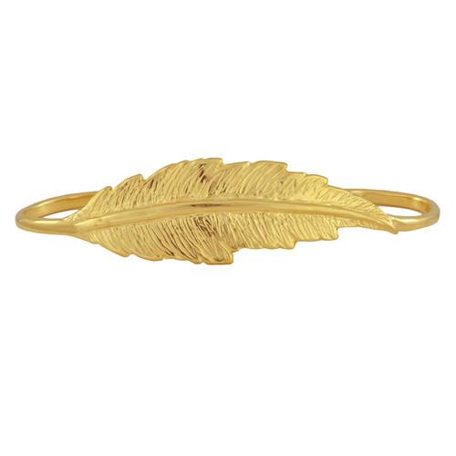 LeiVanKash Gold Feather Hand Cuff