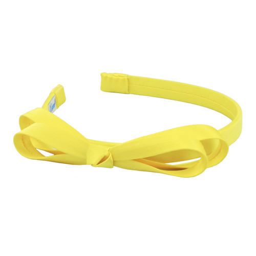 L. Erickson Double Loop Bow Light Yellow Headband