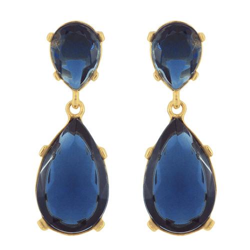 Kenneth Jay Lane Sapphire Drop Earrings