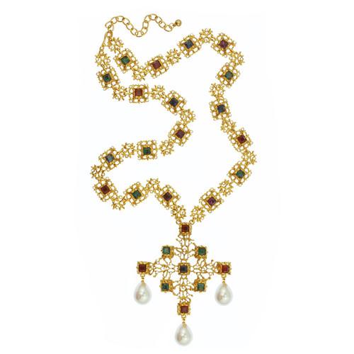 Kenneth Jay Lane Ornate Statement Necklace